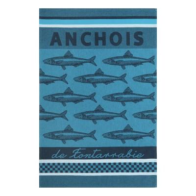 Torchon Arnaga Anchois de Fontarrabie Bleu - Jean-Vier