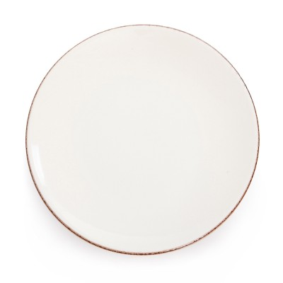 Assiette plate Chantaco Ecru - Jean-Vier