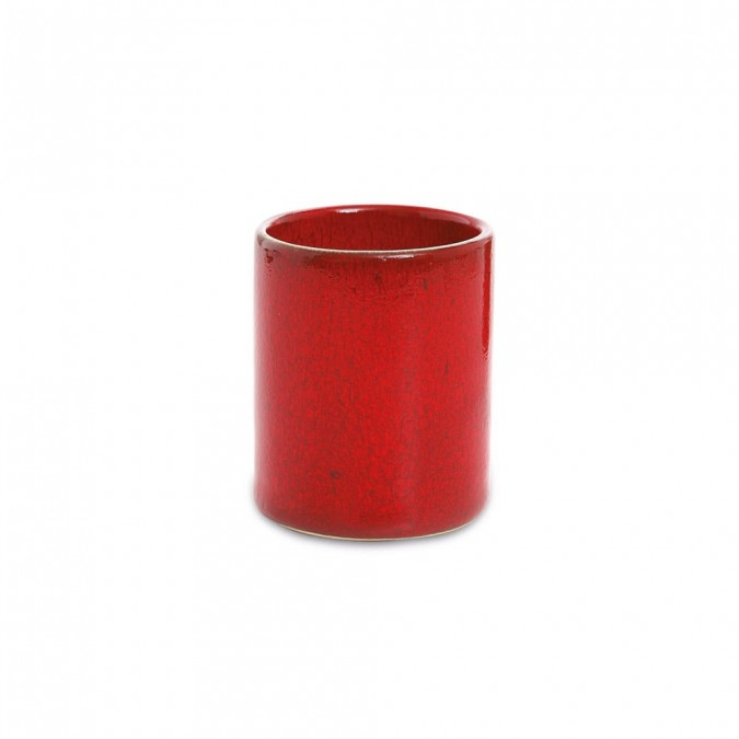 tasse caf mauleon rouge cr ations jean vier. Black Bedroom Furniture Sets. Home Design Ideas