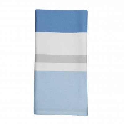 Serviette de table Pampelune Aqua - Jean-Vier