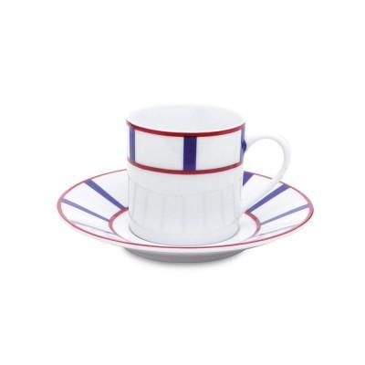 assiette plate amatxi rouge bleu cr ations jean vier. Black Bedroom Furniture Sets. Home Design Ideas