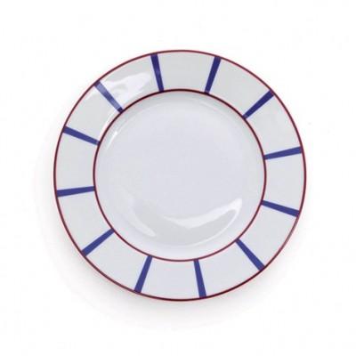 Assiette à dessert Amatxi Rouge-Bleu - Jean-Vier