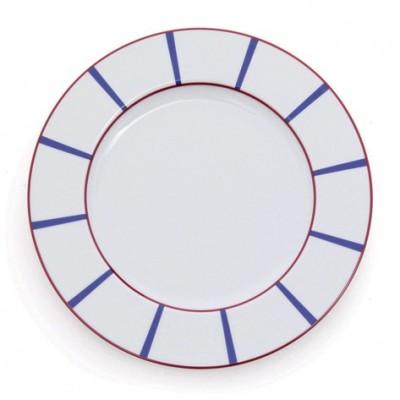 Assiette Plate Amatxi Rouge-Bleu - Jean-Vier