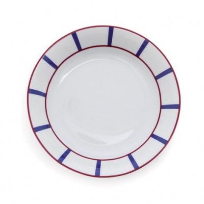 Assiette Creuse Amatxi Rouge-Bleu - Jean-Vier