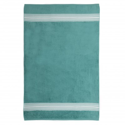 Shower towel Grand Hotel Turquoise Inversé - Jean-Vier