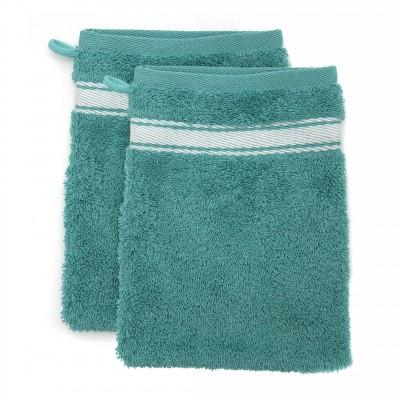 Lot de 2 gants Grand Hotel Turquoise Inversé - Jean-Vier