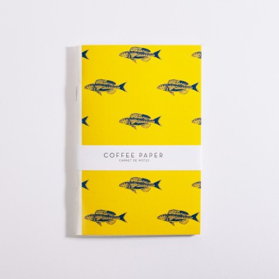 Carnet Poissons Coffee Paper - Jean-Vier