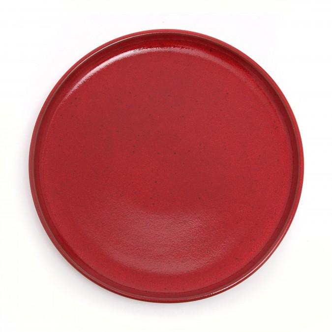 Assiette plate Mauléon Rouge feu  - Jean-Vier