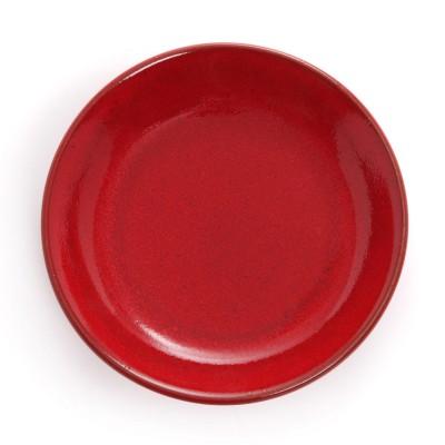 Assiette creuse Mauléon Rouge feu - Jean-Vier