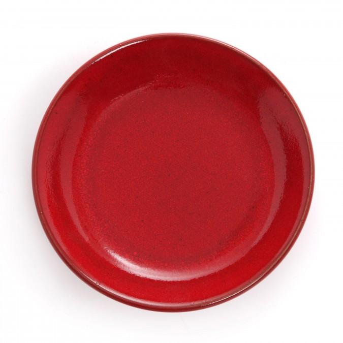 Soup plate Mauléon Rouge feu - Jean-Vier