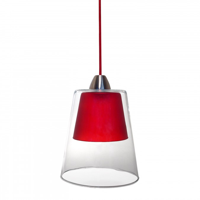 Luminaire Suspension Layer Rouge - Jean-Vier