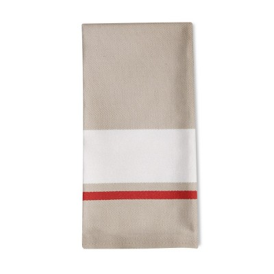 Striped napkin Donibane Fraise