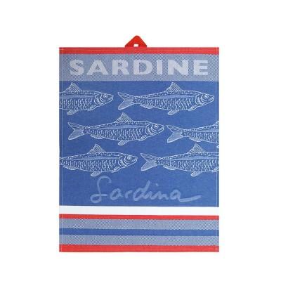 Küchenhandtuchs Arnaga Sardine Bleu - Jean-Vier
