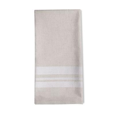Striped napkin Saint-Jean-de-Luz Blanc - Jean-Vier
