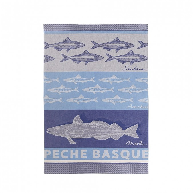 Jacquard zatara Arnaga Pêche Basque - Jean-Vier