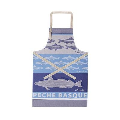 Grembiule Arnaga Pêche Basque Bleu - Jean-Vier