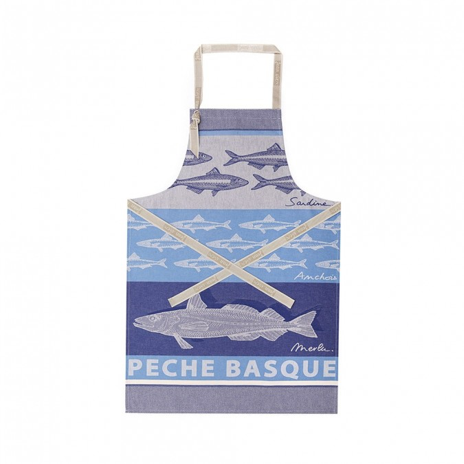 Tablier Arnaga Pêche Basque Bleu - Jean-Vier