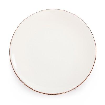 Assiette plate Chantaco Ecru