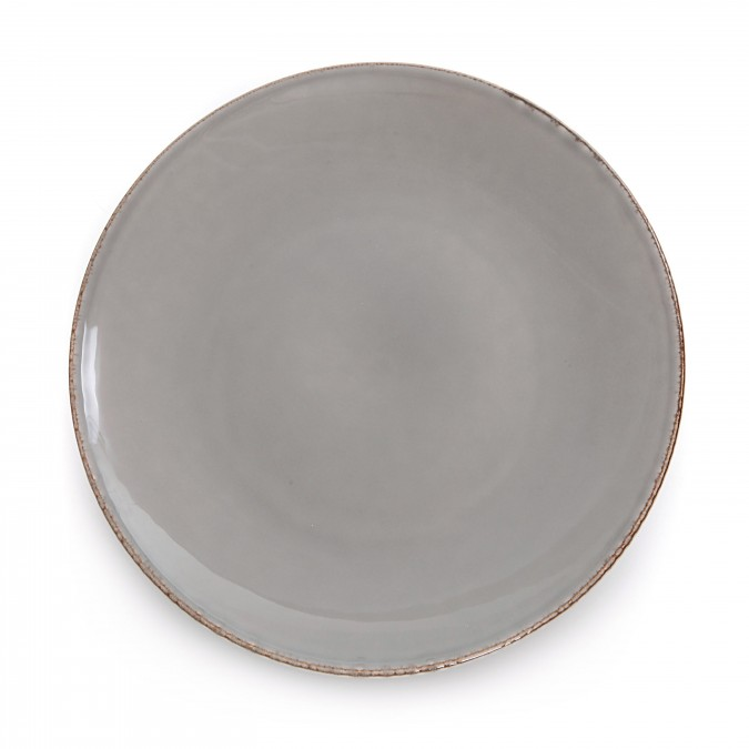 Assiette plate Chantaco Taupe - Jean-Vier