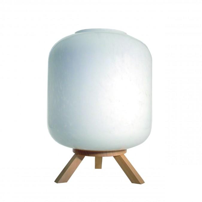 Luminaire Lampe Kamin Blanc moucheté - Jean-Vier
