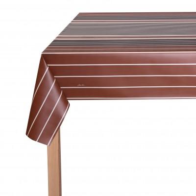 Toalha de mesa emborrachada Zumaia Cappuccino - Jean-Vier