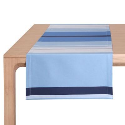 Tischläufer Pampelune Aqua - Jean-Vier
