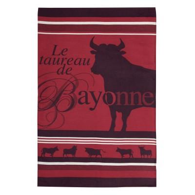 Pano de prato Arnaga Taureau de Bayonne - Jean-Vier