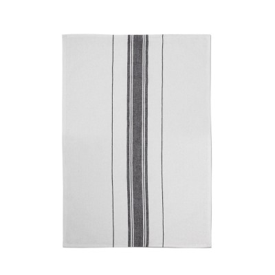 Striped hand towel Beaurivage Ivoire - Jean-Vier
