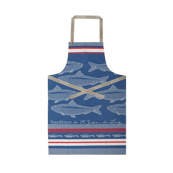 Tablier Arnaga Sardines Bleu - Jean-Vier