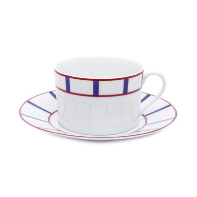 Taza de desayuno Amatxi Rouge-Bleu - Jean-Vier