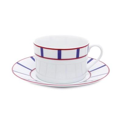 Tasse à Déjeuner Amatxi Rouge-Bleu - Jean-Vier