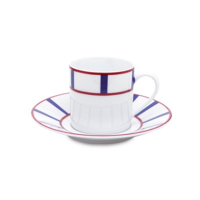 Coffee cup Amatxi Rouge-Bleu