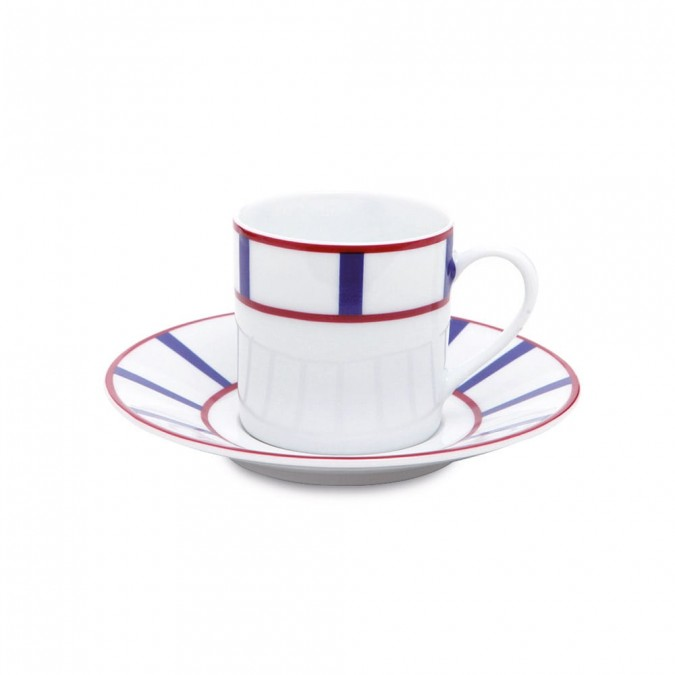 Coffee cup Amatxi Rouge-Bleu - Jean-Vier
