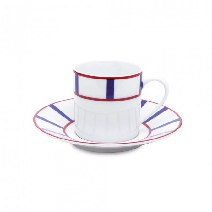 Taza de café Amatxi Rouge-Bleu - Jean-Vier