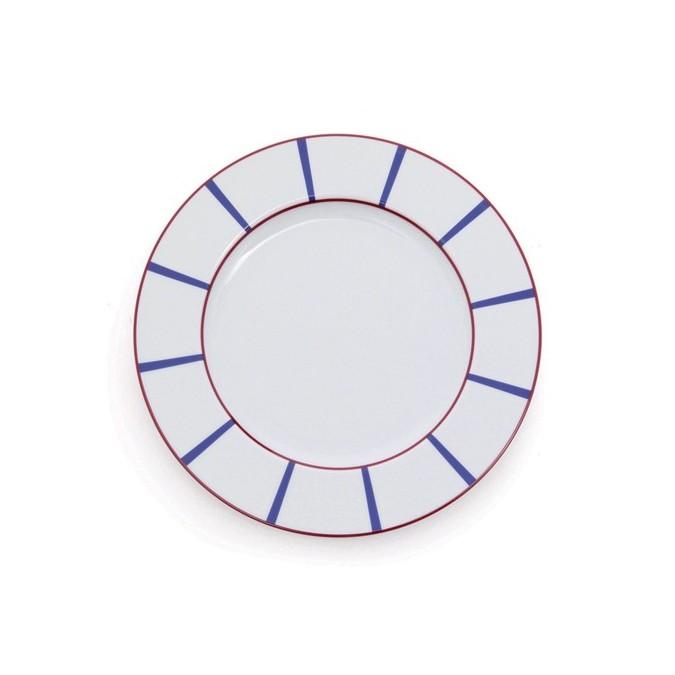 Dinner plate Amatxi Rouge-Bleu - Jean-Vier