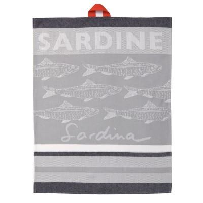 Toalha de mão Arnaga Sardine - Jean-Vier