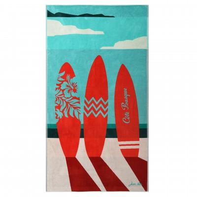 Beach towel Côte Basque Azur - Jean-Vier