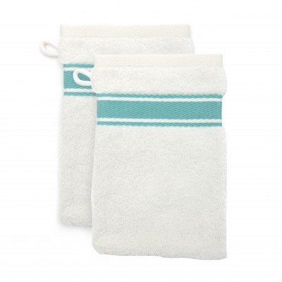 2er-Pack Waschlappen Grand Hotel Turquoise - Jean-Vier
