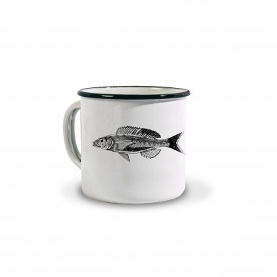 Tasse émaillée Poissons by Coffee Paper - Jean-Vier