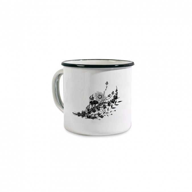 Tasse émaillée Fleurs by Coffee Paper - Jean-Vier