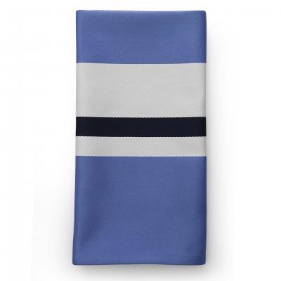 Striped napkin Pampelune Amiral - Jean-Vier