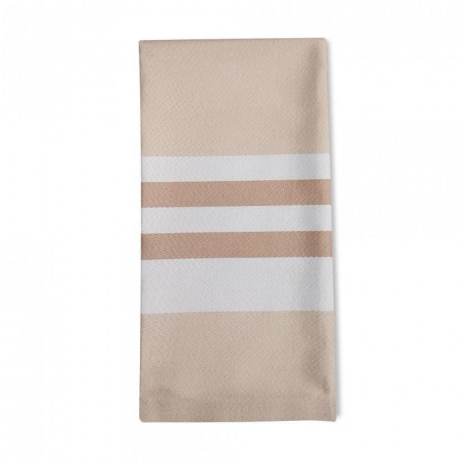 Striped napkin Ainhoa Champagne - Jean-Vier