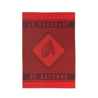 Torchon Errobi Rouge Chocolat de Bayonne - Jean-Vier