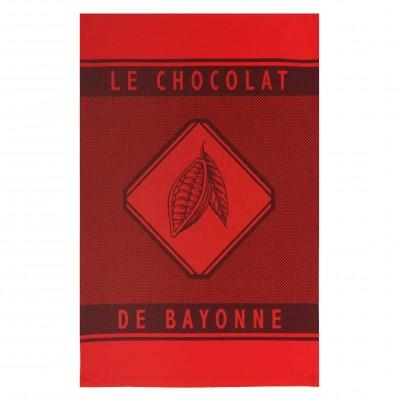 Paño de manos Errobi Rouge Chocolat de Bayonne - Jean-Vier