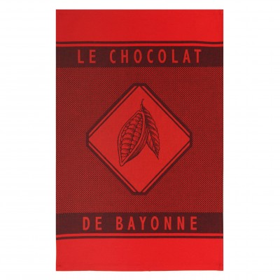 Toalha de Mão Errobi Rouge Chocolat de Bayonne - Jean-Vier