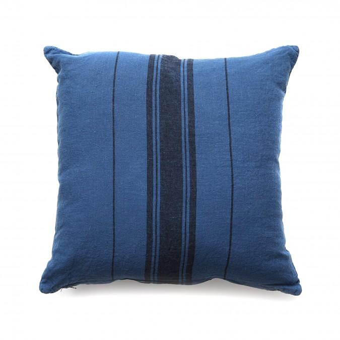 Housse de Coussin Beaurivage Bleu Jean - Jean-Vier