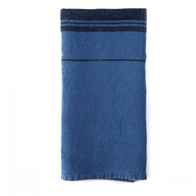 Serviette Beaurivage Bleu Jean - Jean-Vier