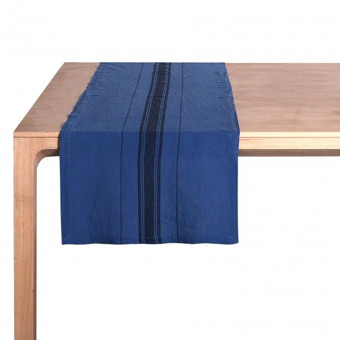 Chemin de Table Beaurivage Bleu Jean - Jean-Vier