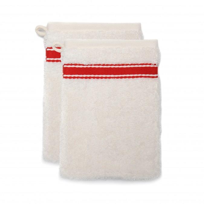 Set of 2 wash gloves Grand Hotel Rouge Sport - Jean-Vier