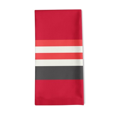 Striped napkin Ainhoa Piment